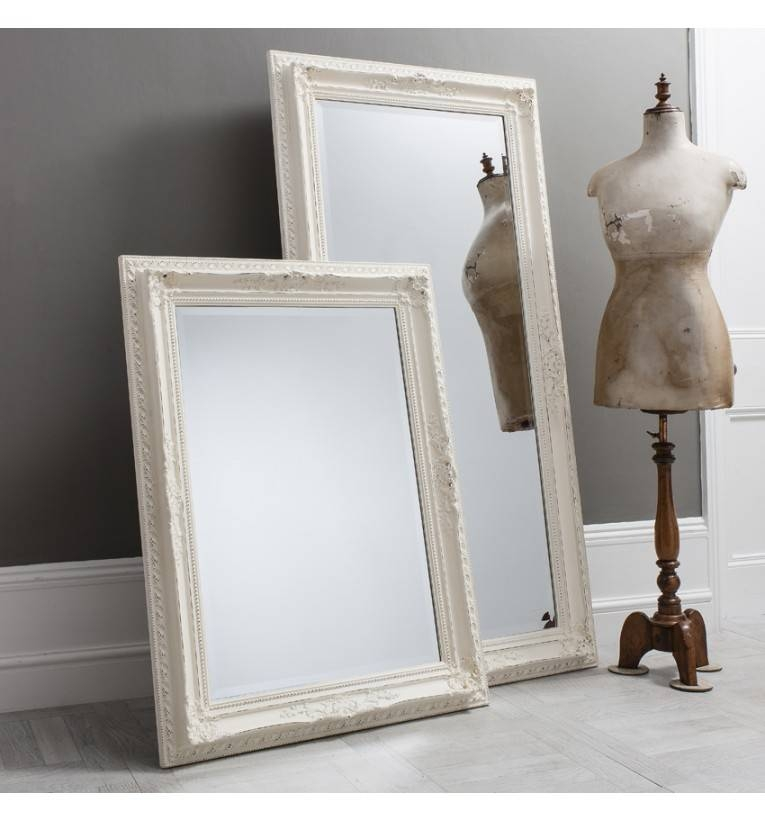 Bella Vintage Cream Extra Large Rectangle Mirror 175 X 114 Cm Pertaining To Vintage White Mirrors (View 18 of 20)
