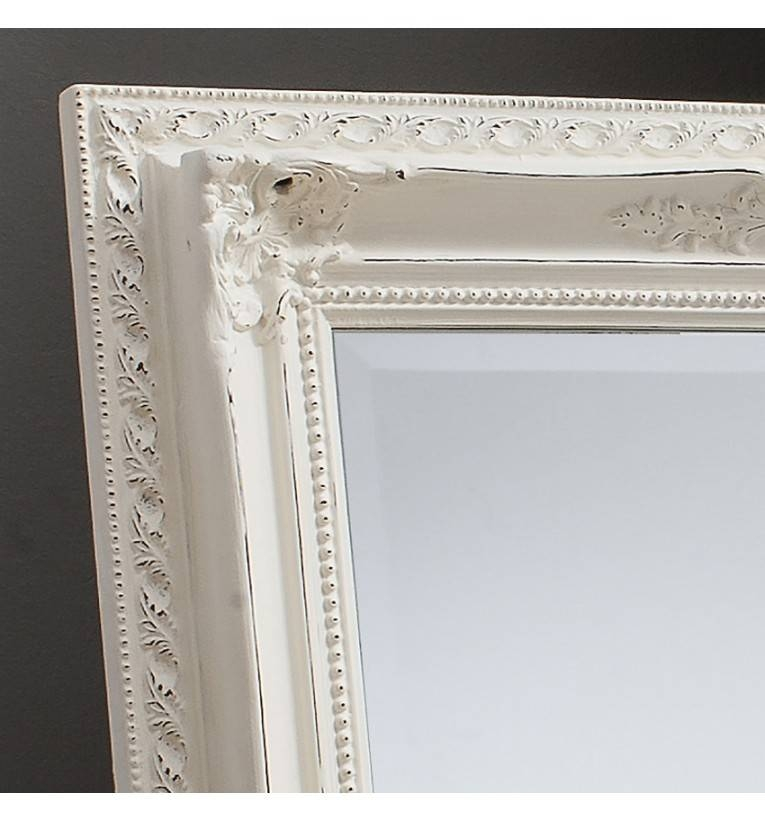 Bella Vintage Cream Extra Large Rectangle Mirror 175 X 114 Cm With Large White French Mirrors (#15 of 30)