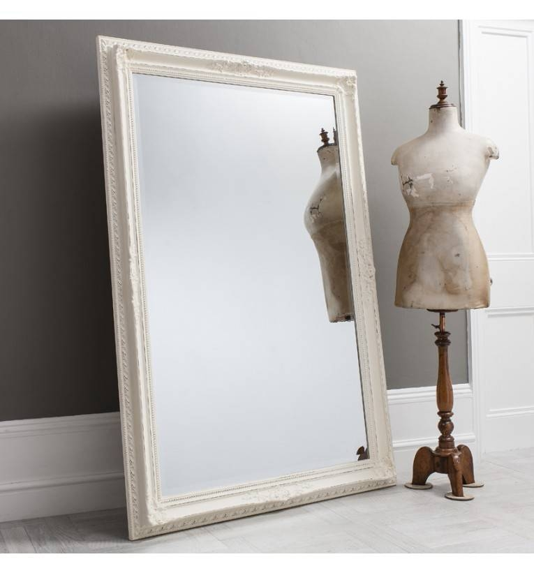 Bella Vintage Cream Large Rectangle Mirror 170 X 84 Cm Bella White With Regard To Vintage Large Mirrors (#11 of 30)