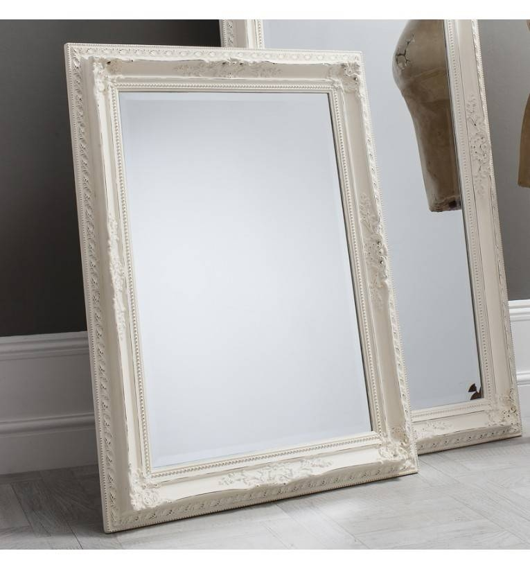 Bella Vintage Cream Rectangle Mirror 114 X 84 Cm Bella White With Regard To Vintage White Mirrors (View 10 of 20)