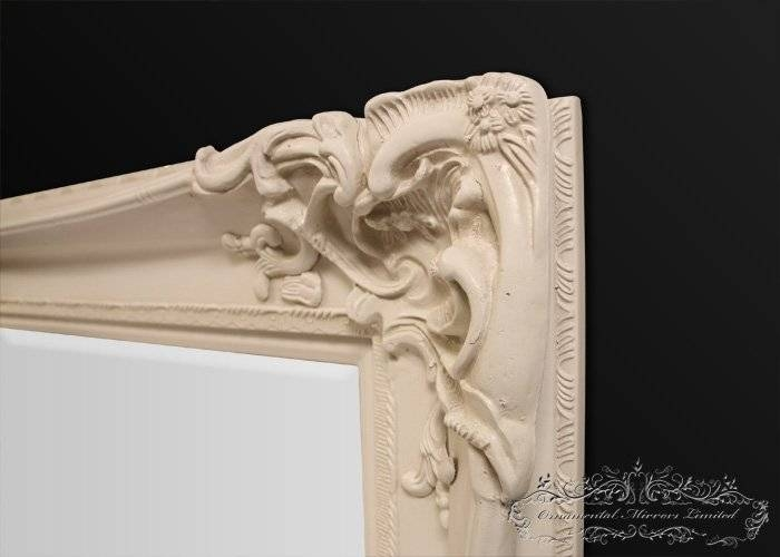 Bellagio Large Cream Ornate Mirror From Ornamental Mirrors Limited Inside Ivory Ornate Mirrors (#7 of 20)