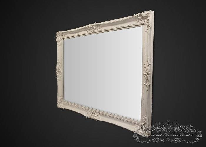 Bellagio Large Cream Ornate Mirror From Ornamental Mirrors Limited Throughout Large Cream Mirrors (#8 of 30)