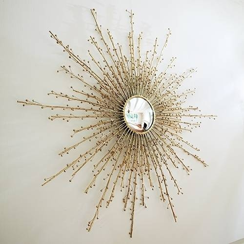 Berry Branch Sunburst Mirror In Brass – The Designer Insider Inside Extra Large Sunburst Mirrors (#3 of 20)