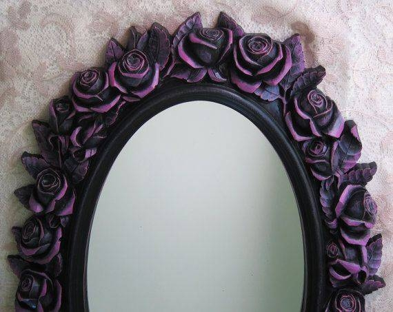 Best 10+ Black Wall Mirrors Ideas On Pinterest | Purple Kitchen Pertaining To Black Oval Wall Mirrors (View 13 of 20)