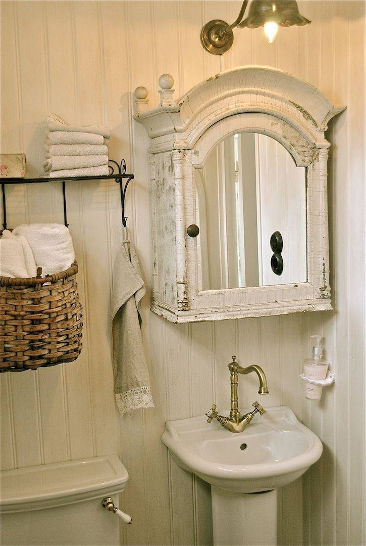 30 Collection Of Shabby Chic Bathroom Mirrors
