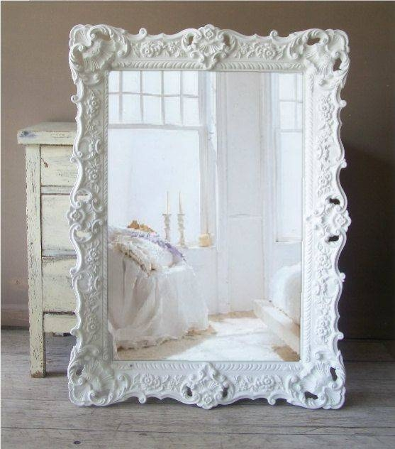 Popular Photo of Large Ornate White Mirrors