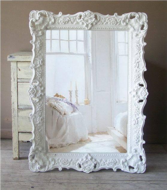 Popular Photo of Large Ornate White Mirrors