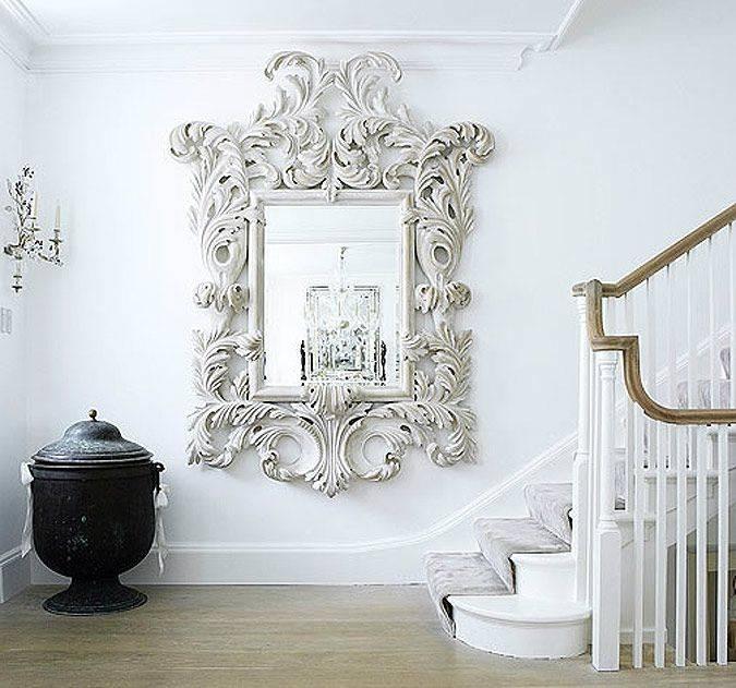 Best 10+ White Mirror Ideas On Pinterest | White Floor Mirror With Regard To White Baroque Wall Mirrors (#9 of 20)