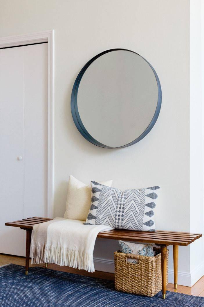 Best 20+ Big Round Mirror Ideas On Pinterest | Large Round Mirror Pertaining To Blue Round Mirrors (#11 of 30)
