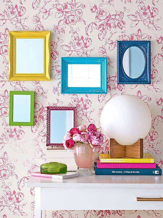 Best 20+ Colorful Frames Ideas On Pinterest | Apartment Living Regarding Bright Coloured Mirrors (#9 of 20)