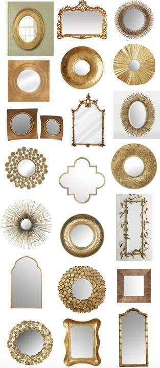 Best 20+ Gold Mirrors Ideas On Pinterest | Mirror Wall Collage For Gold Mirrors (#13 of 30)