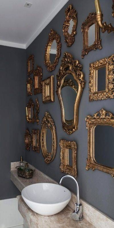 Best 20+ Gold Mirrors Ideas On Pinterest | Mirror Wall Collage Throughout Gold Mirrors (#16 of 30)