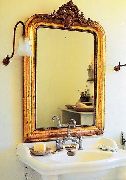 Best 20+ Gold Mirrors Ideas On Pinterest | Mirror Wall Collage With Vintage Bathroom Mirrors (View 17 of 30)