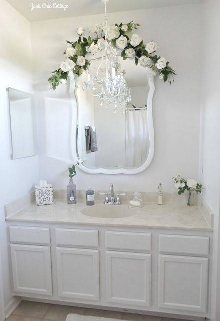 Best 20+ Junk Chic Cottage Ideas On Pinterest | White Wreath In Shabby Chic Bathroom Mirrors (#14 of 30)