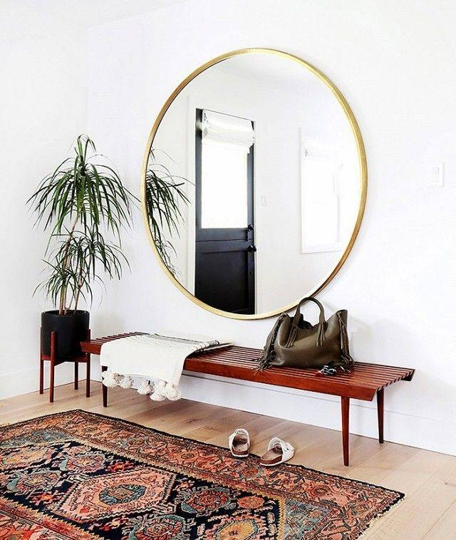 Best 20+ Large Round Mirror Ideas On Pinterest | Large Hallway In Large Round Metal Mirrors (View 6 of 30)