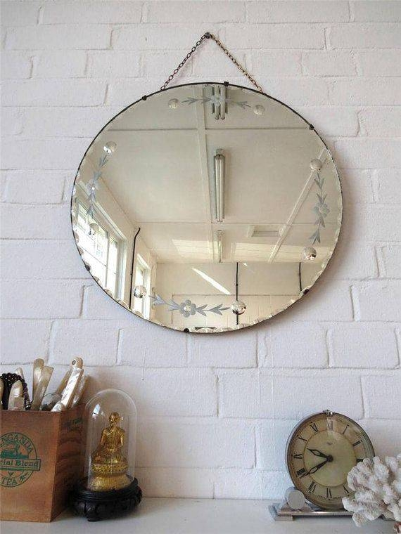 Best 20+ Large Round Wall Mirror Ideas On Pinterest   Photo Wall For Large Bevelled Edge Mirrors (View 8 of 30)