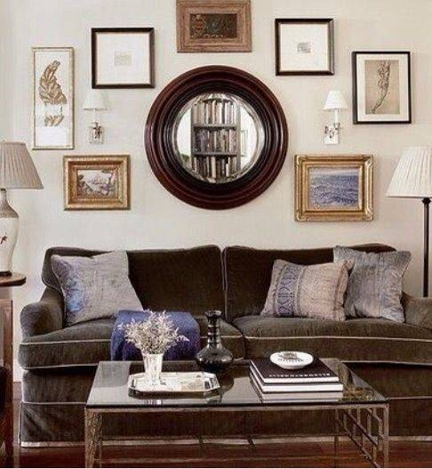 Best 20+ Large Round Wall Mirror Ideas On Pinterest | Photo Wall Inside Large Brown Mirrors (#15 of 30)