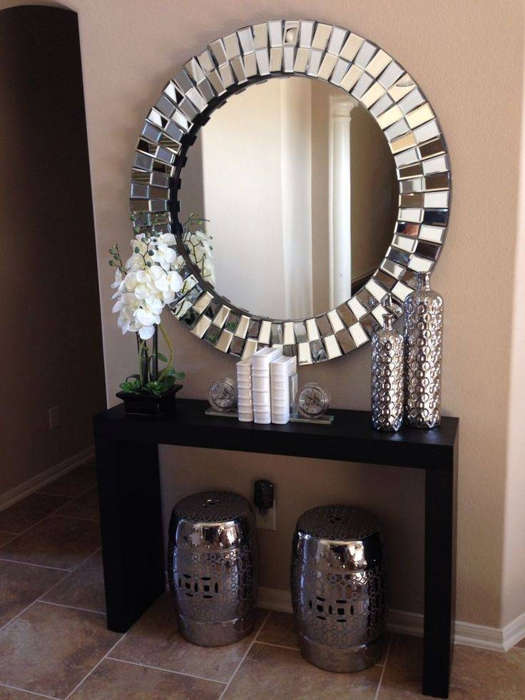 Best 20+ Large Round Wall Mirror Ideas On Pinterest | Photo Wall Inside Long Silver Mirrors (#10 of 30)