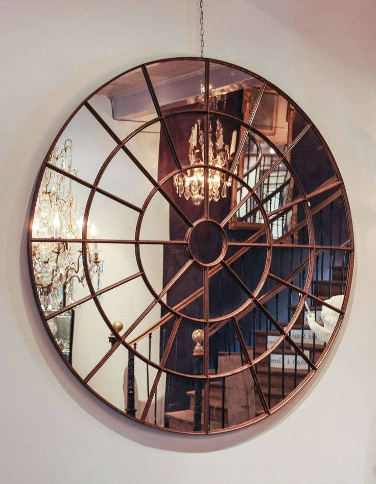 Best 20+ Large Round Wall Mirror Ideas On Pinterest | Photo Wall Intended For Unique Round Mirrors (View 2 of 30)