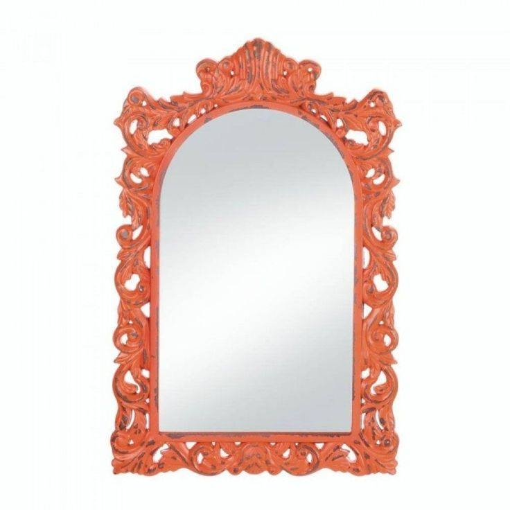 Best 20+ Orange Wall Mirrors Ideas On Pinterest | Orange Bathroom Pertaining To Bright Coloured Mirrors (#10 of 20)
