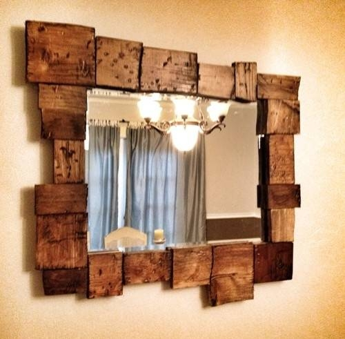 Best 20+ Rustic Mirrors Ideas On Pinterest | Farm Mirrors In Wooden Mirrors (#8 of 30)