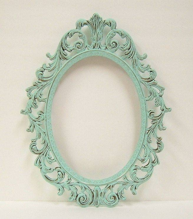 Best 20+ Shabby Chic Picture Frames Ideas On Pinterest | Shabby For Oval Shabby Chic Mirrors (View 16 of 20)