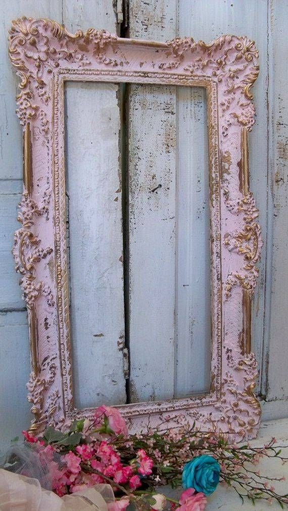 Best 20+ Shabby Chic Picture Frames Ideas On Pinterest | Shabby Within Shabby Chic Gold Mirrors (#17 of 30)