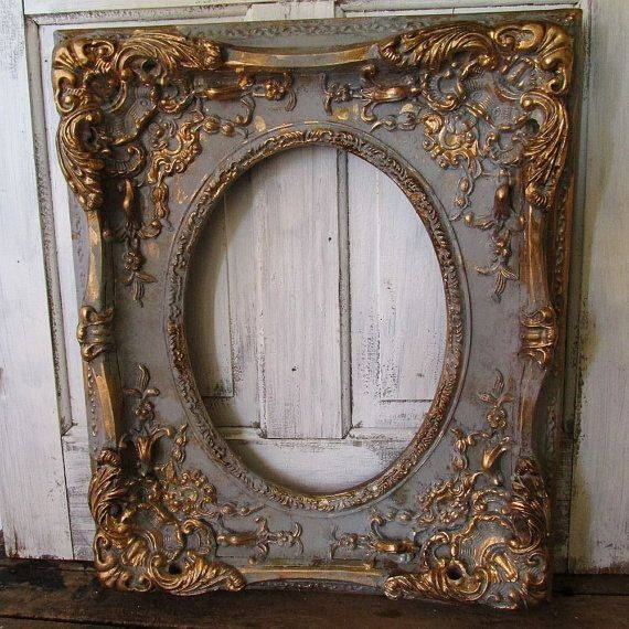 Best 25+ Antique Frames Ideas On Pinterest | Diy Jewellery Holders Regarding Ornate Vintage Mirrors (#21 of 30)