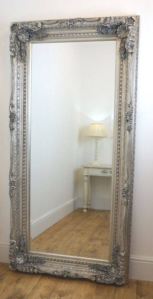Popular Photo of Large Silver Vintage Mirrors