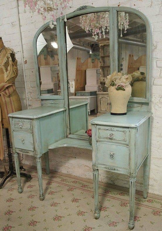 Best 25+ Antique Vanity Table Ideas On Pinterest | Vintage Vanity Pertaining To Antique Triple Mirrors (#11 of 20)