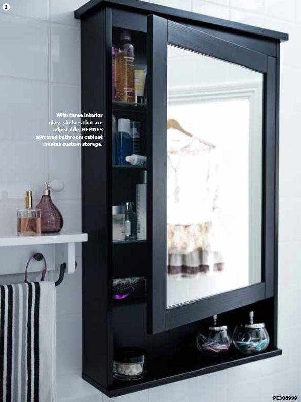 Popular Photo of Black Cabinet Mirrors