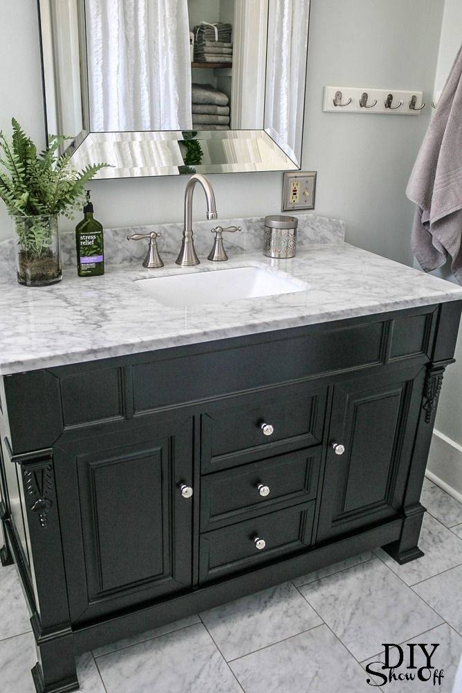 Best 25+ Black Bathroom Vanities Ideas On Pinterest | Black Throughout Black Cabinet Mirrors (#12 of 30)