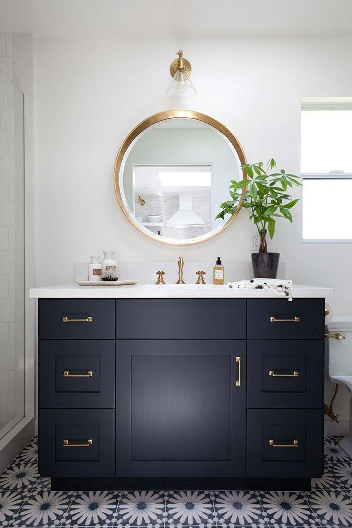 Best 25+ Black Bathroom Vanities Ideas On Pinterest | Black Throughout Black Cabinet Mirrors (#11 of 30)