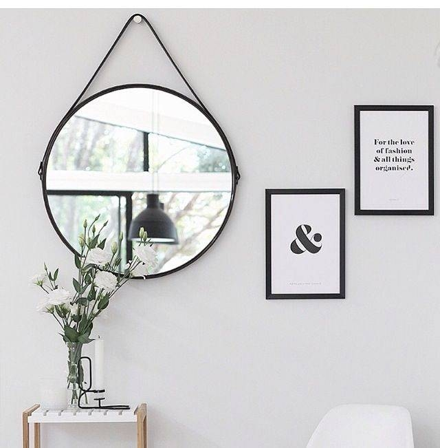 Best 25+ Black Round Mirror Ideas On Pinterest | Small Hall, Small For Large Black Round Mirrors (#9 of 30)