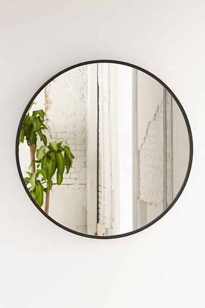 Best 25+ Black Round Mirror Ideas On Pinterest | Small Hall, Small For Large Black Round Mirrors (View 2 of 30)