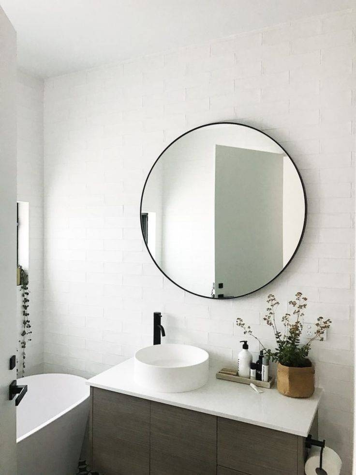 Best 25+ Black Round Mirror Ideas On Pinterest | Small Hall, Small Intended For Black Cabinet Mirrors (#15 of 30)