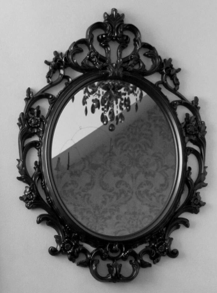 Best 25+ Black Round Mirror Ideas On Pinterest   Small Hall, Small Regarding Oval Black Mirrors (#4 of 20)