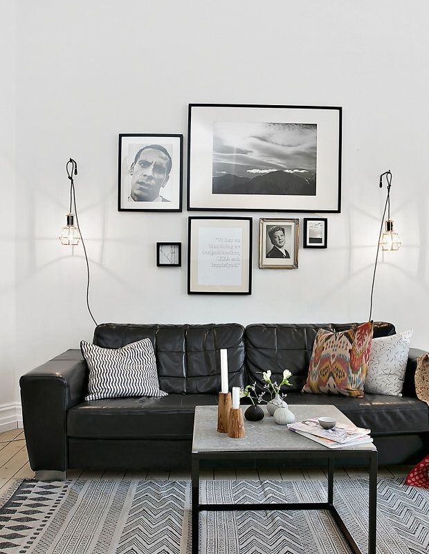 Best 25 Black Sofa Ideas On Pinterest Black Couch Decor Black For White And Black Sofas (#5 of 15)