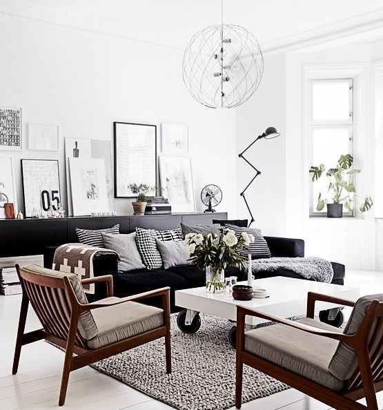 Best 25 Black Sofa Ideas On Pinterest Black Couch Decor Black Throughout White And Black Sofas (#6 of 15)