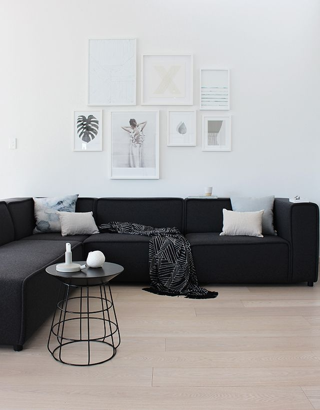 Best 25 Black Sofa Table Ideas On Pinterest Small Basement In White And Black Sofas (#7 of 15)