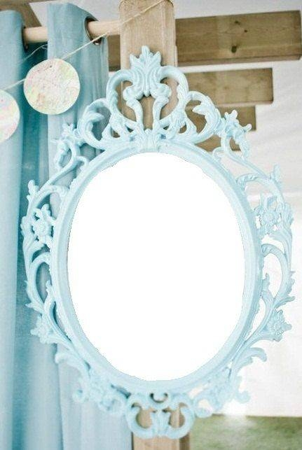 Best 25+ Blue Mirrors Ideas On Pinterest | Mirrored Women's With Vintage Looking Mirrors (#8 of 20)