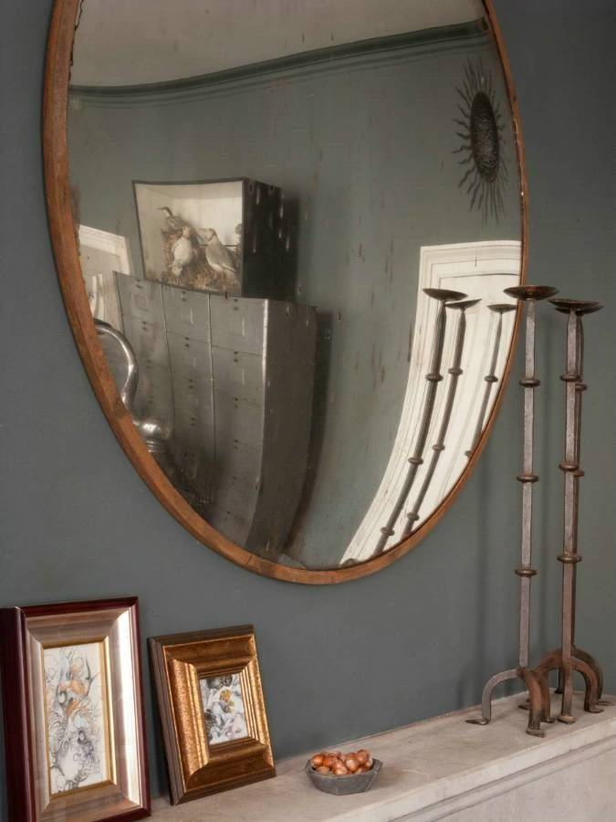 Best 25+ Convex Mirror Ideas On Pinterest | Dark Blue Walls Intended For Round Convex Wall Mirrors (#13 of 30)