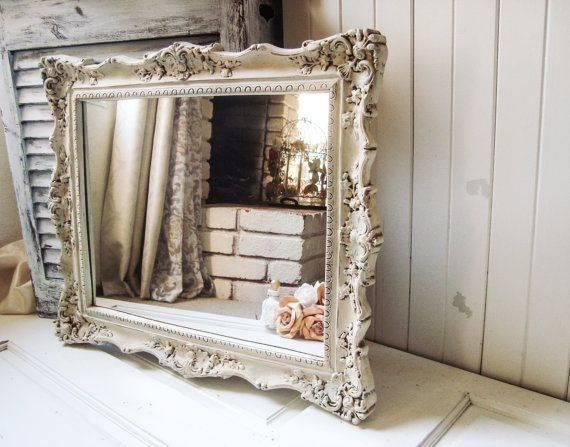 Popular Photo of Distressed Cream Mirrors