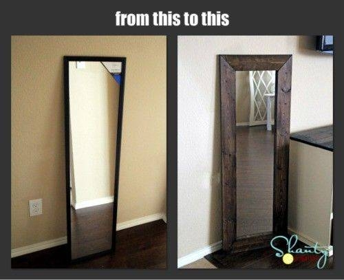 Inspiration about Best 25+ Diy Mirror Ideas On Pinterest | Cheap Wall Mirrors, Farm Inside Cheap Huge Mirrors (#30 of 30)