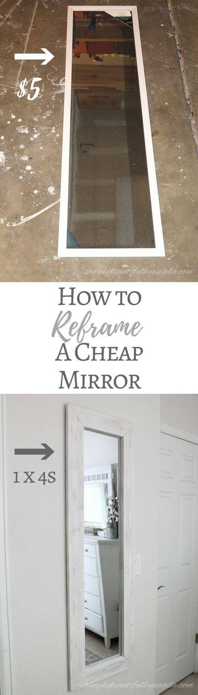 Best 25+ Diy Mirror Ideas On Pinterest | Cheap Wall Mirrors, Farm Intended For Cheap Mirrors (View 19 of 30)