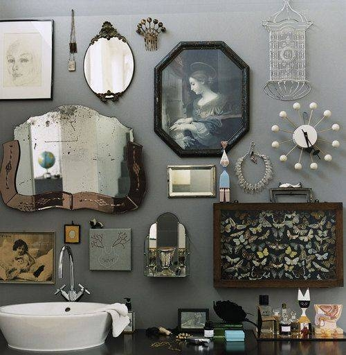 Best 25+ Eclectic Bathroom Ideas On Pinterest | Small Toilet Regarding Vintage Mirrors For Bathrooms (#4 of 15)