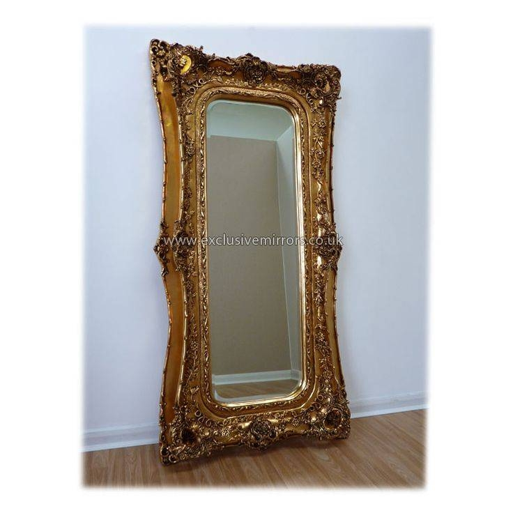 Popular Photo of Extra Large Gold Mirrors
