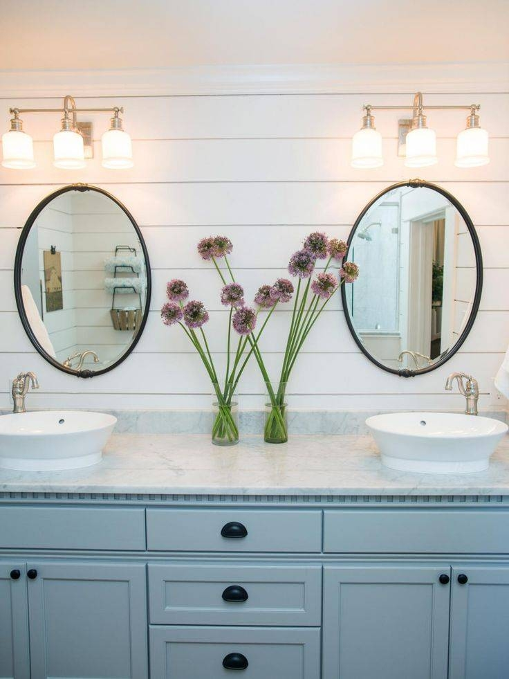 Best 25+ Farmhouse Bathroom Mirrors Ideas On Pinterest | Farmhouse Intended For White Oval Bathroom Mirrors (#10 of 20)
