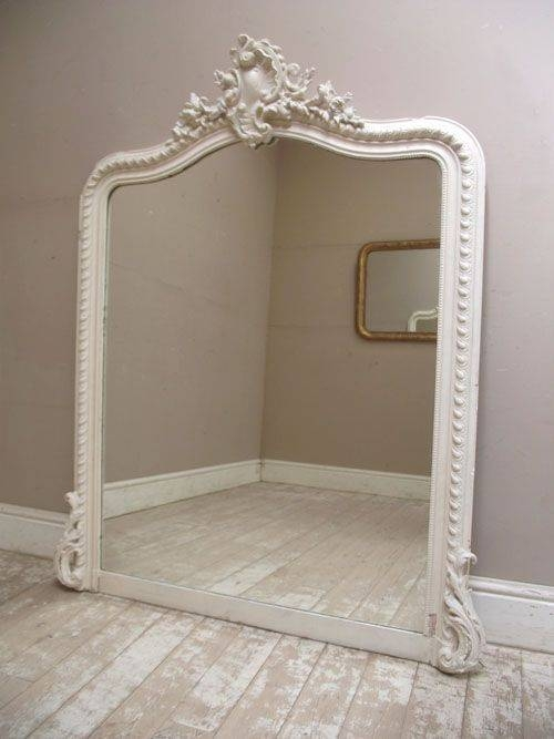 Popular Photo of Large White French Mirrors