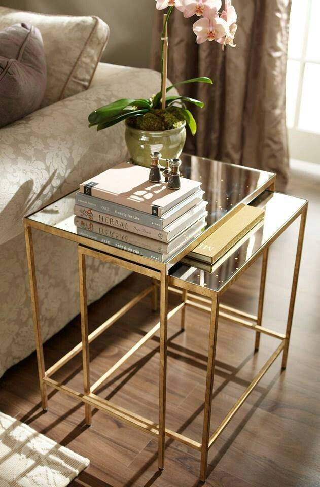 Best 25+ Gold Side Tables Ideas On Pinterest | Gold Accents, Gold With Regard To Occasional Tables Mirrors (#14 of 30)